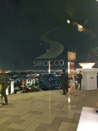 Entrada do Sky Bar e restaurante Sirocco - Bangkok - Photo by Claudia Grunow