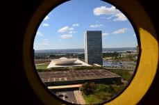 Vista da Câmara dos deputados ( prédio) - Photo by Claudia Grunow