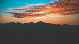 Tucson Valley at sunset