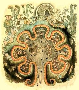 «ToltecaChichimeca Chicomostoc». Disponible bajo la licencia Dominio público vía Wikimedia Commons.
