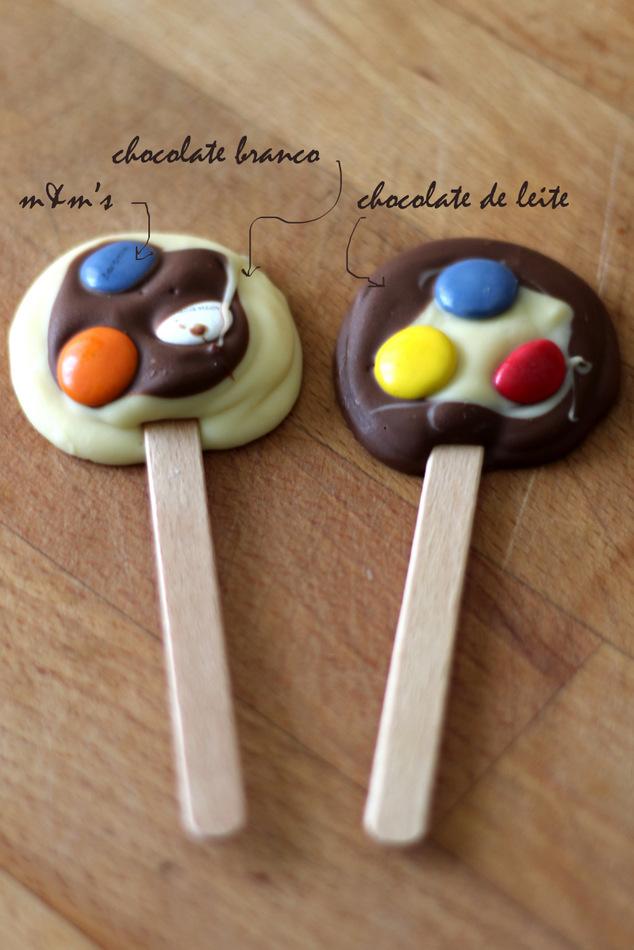 Chupa Chupas De Chocolate E Mampms