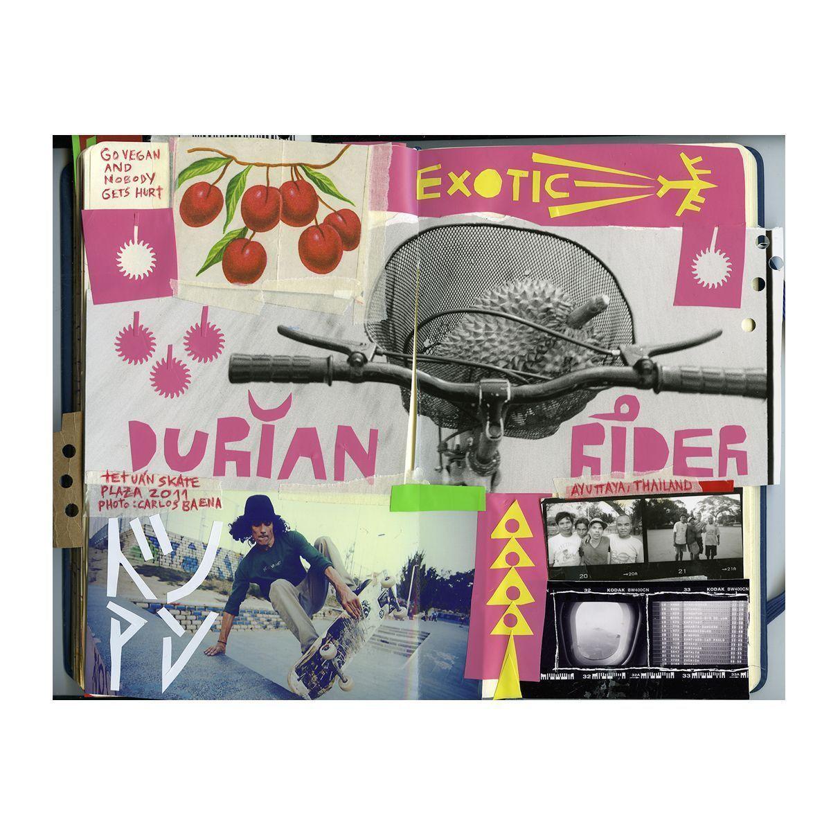 Exotic, collage en cuaderno, Algatocín 2015 ©Fernando Elvira