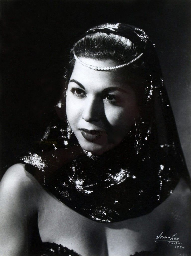 Samia Gamal (with Pearls), negative no. 501_, 1950 Photograph by Van Leo, copyright American University in Cairo