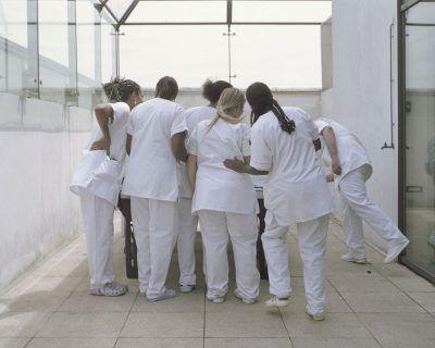 "Monday 22nd June - The Polaroid of the nurses ""Bellevue Hospital"" Series, France, 2014 Lundi 22 juin - le Pola des infirmires SŽrie ""H™pital Bellevue"", France, 2014"