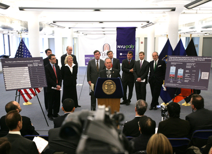 Mayor Bloomberg announces 11 Initiatives to Support City's Financial Services Sector