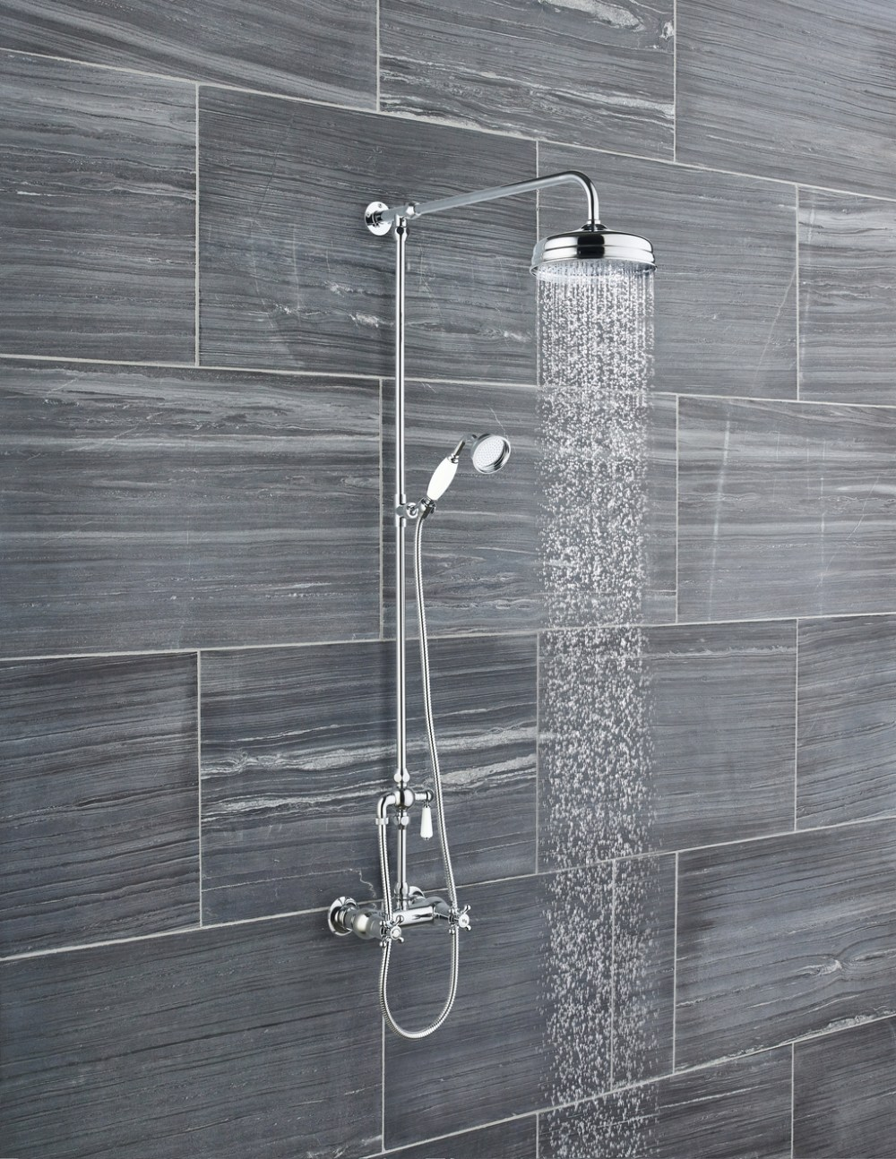 Hudson Reed Tradtional Thermostatic Shower Valve and Rigid Riser Kit