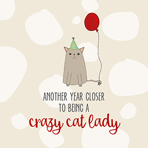 Crazy Cat Lady Claws And Paws Cards