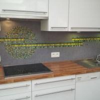 Een dosis kleur in de keuken - in mozaiek