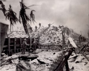 1st. Lt. Alexander Bonnyman Jr. during the battle of Tarawa.