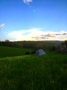 hiker tent virginia appalachian trail