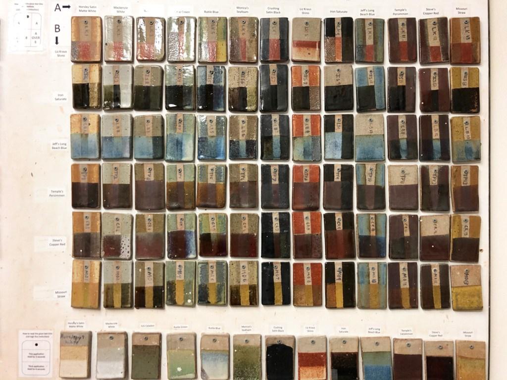 Glaze wall of tiles