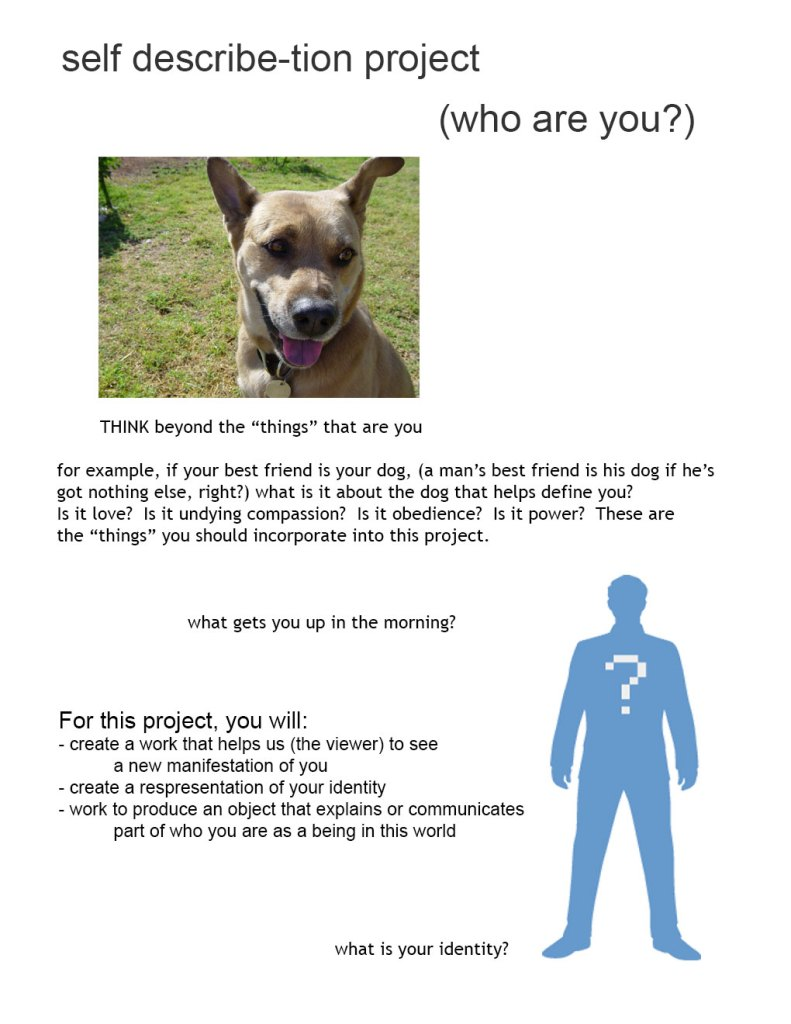 Self Desciprion Project handout