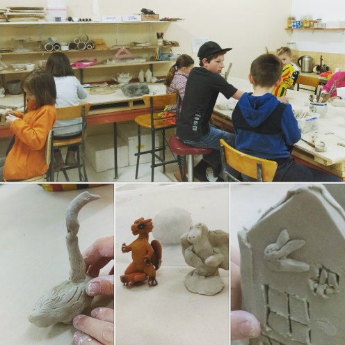 Childrens pottery class at ClayMotion Ballarat
