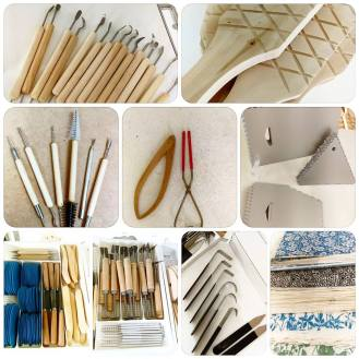 pottery and art supplies