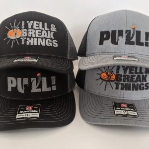 Cool Trap Shooting Hats - Custom Richardson Hats - PULL! - I YELL & BREAK THINGS