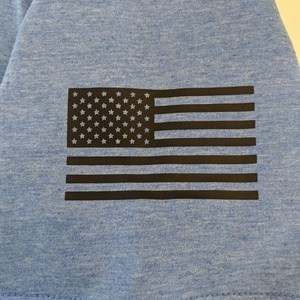 Sleeve Prints - American Flag & Breaking Clay | Clay Shooting Shirts - Pull I Yell & Break Things T-Shirt