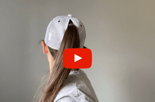 Ponytail Hats - Ladies Trap Shooting Hats - PULL! Design