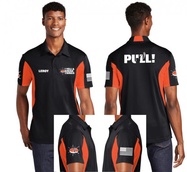Custom Polo Shirts - Personalized Clay Trap Skeet Shooting Coaches Polo Shirts