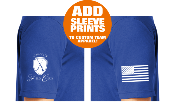 Customized Team Apparel - ADD-ON Sleeve Prints On Team Wear Custom Sponsor Shirts