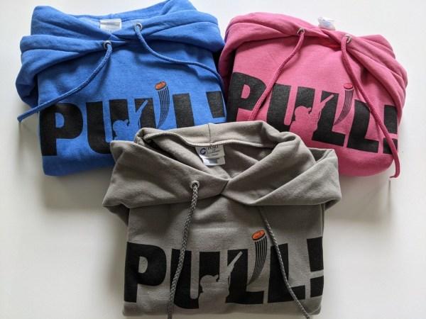 Comfy Trap Shooting Sweatshirt - PULL! - I Yell & Break Things Hoodie