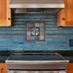Arts Crafts Tile Mural Behind Stove Clay Squared To Infinity