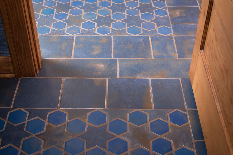 stars and hex tile floor based on
