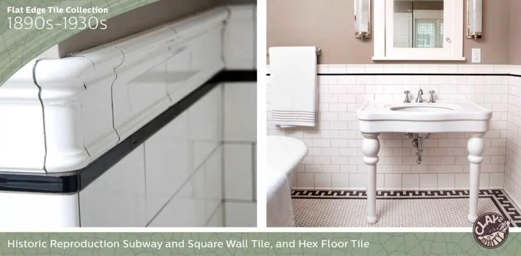 flat edge tile classic subway tile