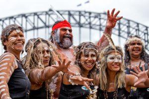 Indigenous people socialising
