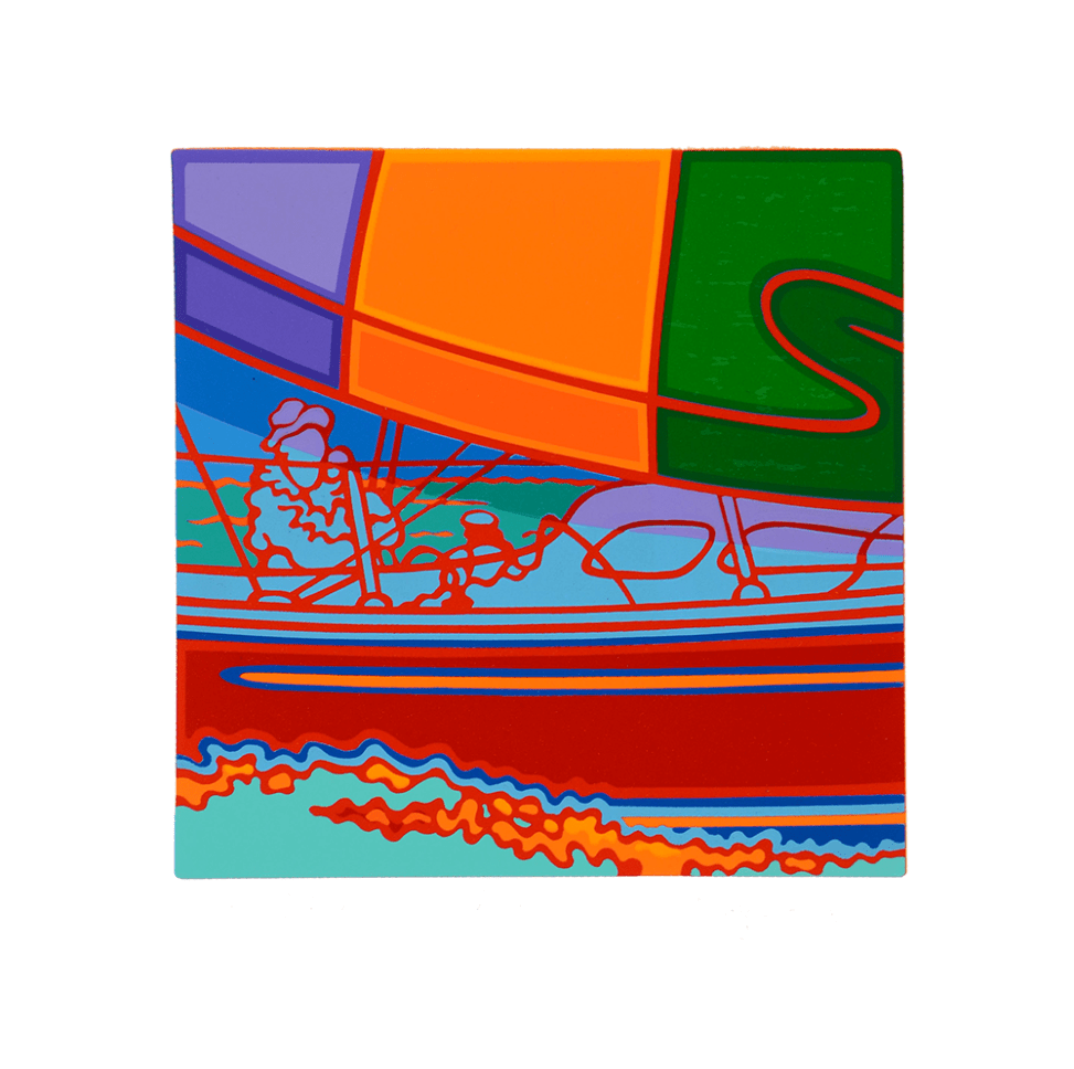 """Inspired by the larger print """"Spinnaker and Blooper"""", smaller section print, by Clayton Pond"""