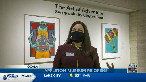 Clayton Pond Exhibit at Appleton Musuem Featured on WCJB ABC 20 TV