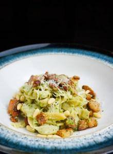 Pancetta & Pesto Tagliatelle