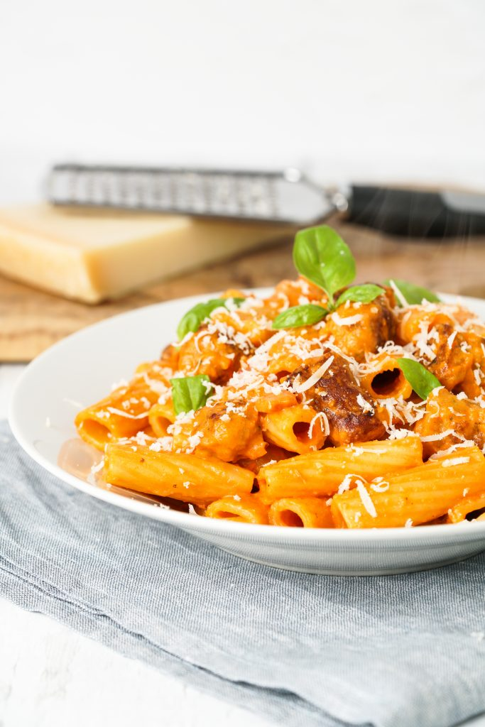 Sausage & Tomato Rigatoni
