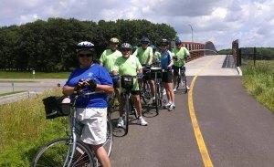The Bike Club on the trail