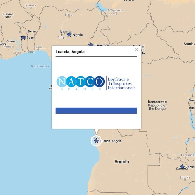 New member representing Angola: Natco (Angola) Lda. - CLC Projects on map of african countries, map of southern europe, map of djibouti, map of chile, map of africa, map of lesotho, map of latvia, map of madagascar, map of mozambique, map of zambia, map of ghana, map of botswana, map of spain, map of bolivia, map of philippines, map of armenia, map of argentina, map of albania, map of burkina faso, map of namibia,