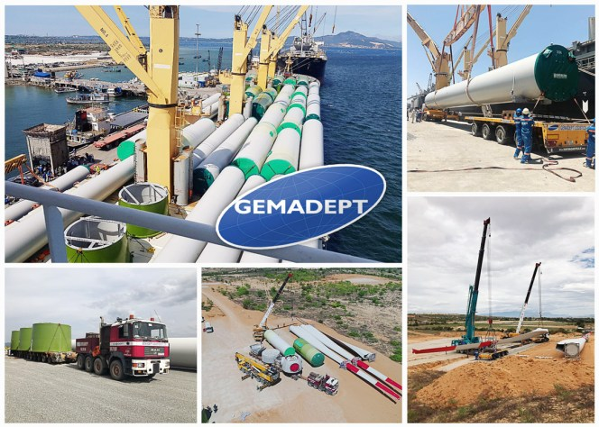 Gemadept handled a large wind power project