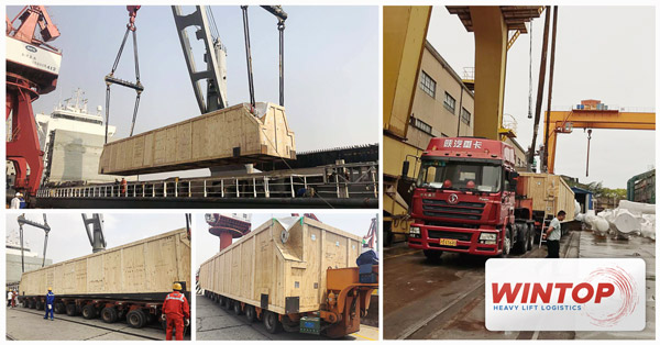 HK Wintop Logistics Enterprise - Shanghai Branch handled heavylift cargo