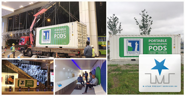 M-Star Freight Services is happy to announce the arrangement of worldwide deliveries of the Portable Communication Pods for the International Seafarers Organization
