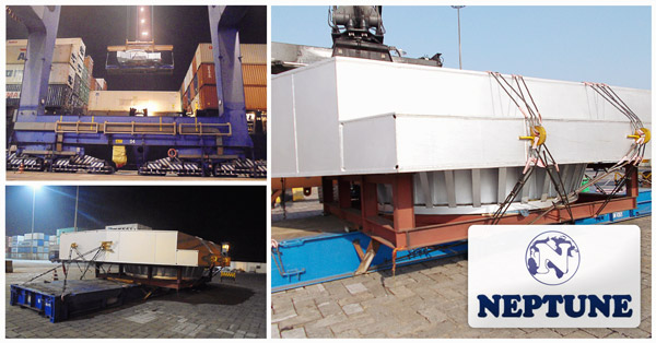 Neptune Container Line & Logistics Pvt. Ltd. successfully handled   a large Over Dimension Cargo (ODC) at Vizag Port