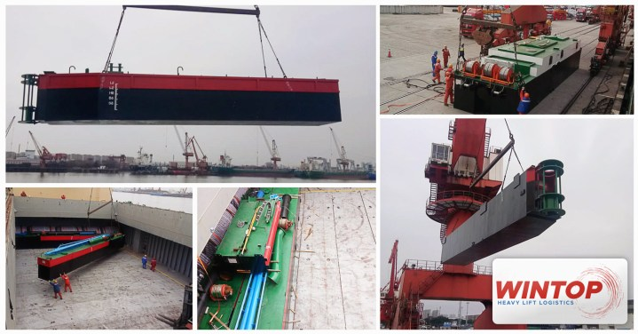 Shipment handled by Wintop Heavy Lift from Shanghai to Batam