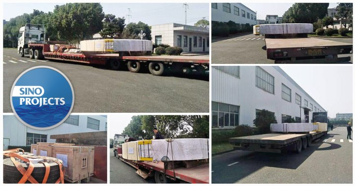 Sino Projects Loaded Large Diameter Cargo in Zhejiang China for transport to Uzbekistan via the Khorgos Border Crossing