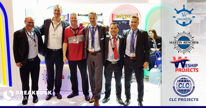 WeShip           Projects, Martin Bencher, VN Projects and Bo Drewsen met at           Breakbulk Asia