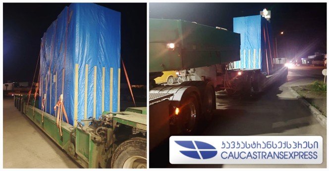 CaucastransExpress Handled OOG Cargo from Uzbekistan