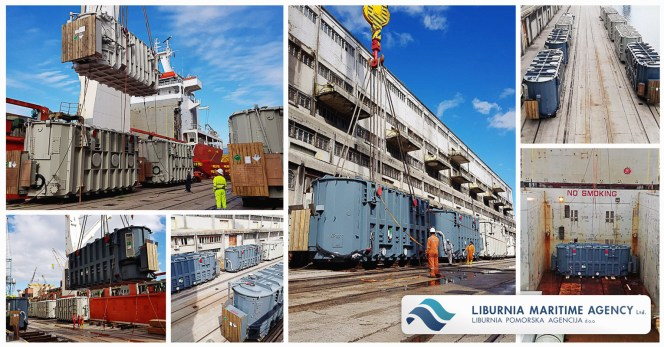 Liburnia Loaded 9 Transformers Weighing Up-to 210 mtons
