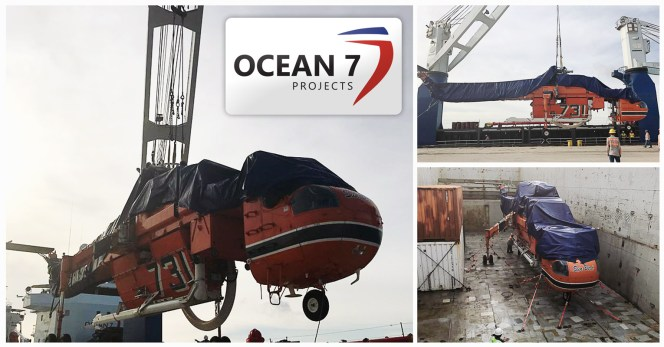 Ocean7 Projects - MV Pacific Dawn Loaded Helicopters in Valparaiso to Houston