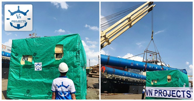 VN Projects Performed the Import Customs and Transport of 1 unit weighing 51 tons from HCMC Port to Vung Tau