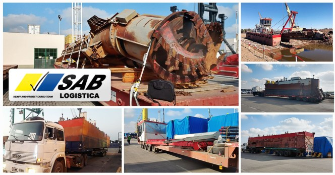 SAB Logistica S.A. Transported  1,800 cbm and 380mt of Dredging Equipment for Salado River in Buenos Aires Province, Argentina