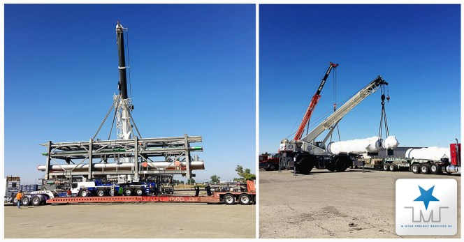 M-Star Projects Handled a 9600 cbm Shipment of which 55 pcs were Oversized