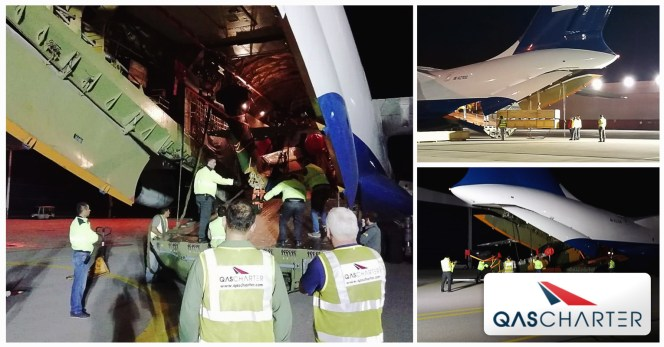QAS Chartered An IL-76 To Move A Helicopter And Spare Parts For The Paris Air Show