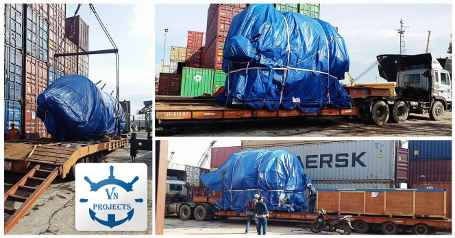 VN Projects Performed Long Distance Trucking of Project Cargo with Heights Up-to 4.3m from Da Nang Port to Dung Quat IZ