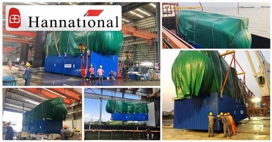 Hannational Shipping Co.Ltd. Handled a Desalination Unit ex-Zhongshan to Dampier, Australia